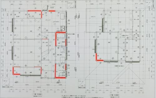 耐震リフォーム 改装前図面2