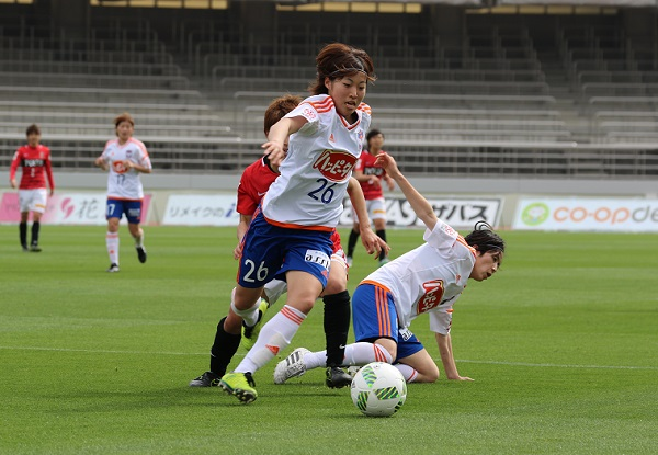 攻守に働いた小島美玖。記録上はOGだが、2点目は、ほぼ彼女のゴールだ