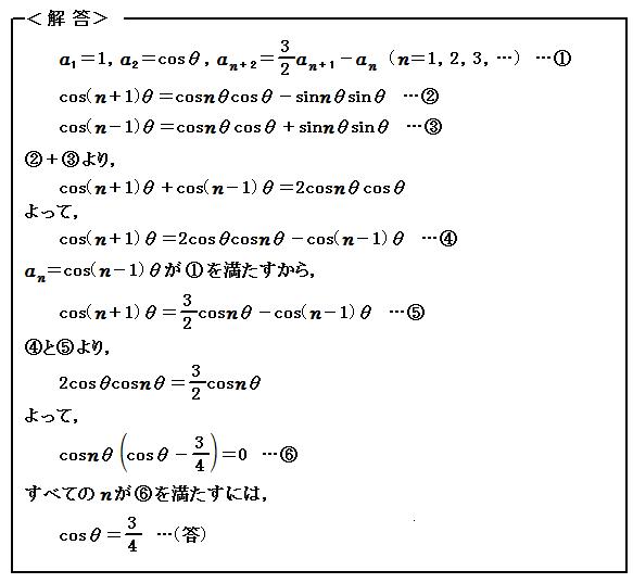 2016 一橋大学 第2問 数列・三角関数 解答
