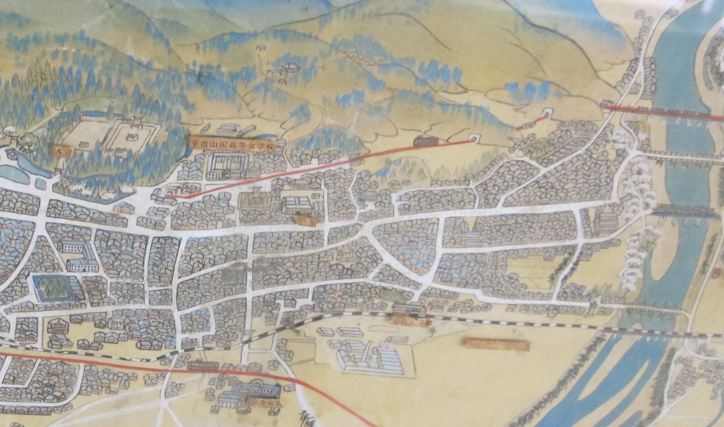 伊勢・山田の地図