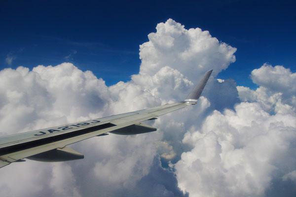 奈良上空の積乱雲