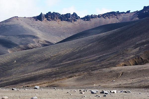 十勝岳中腹の砂漠