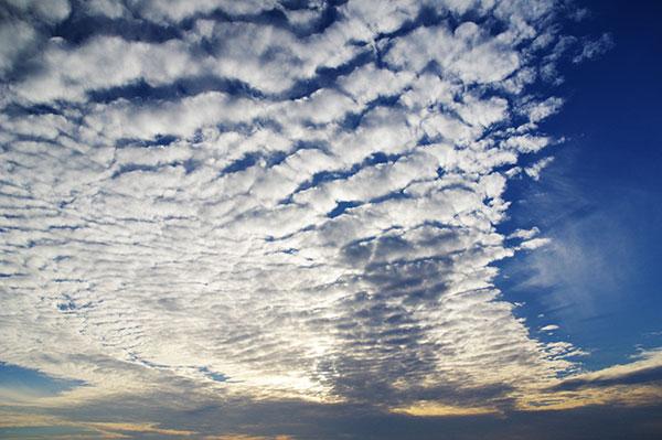 城ヶ倉大橋付近のうろこ雲