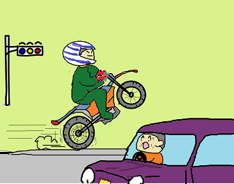 オートバイ曲芸