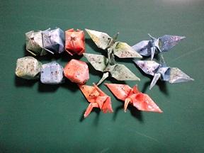 ミニ折り紙で