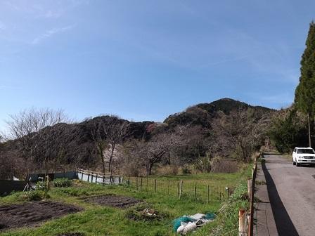 009ウツトモ山砦跡遠望(南から)