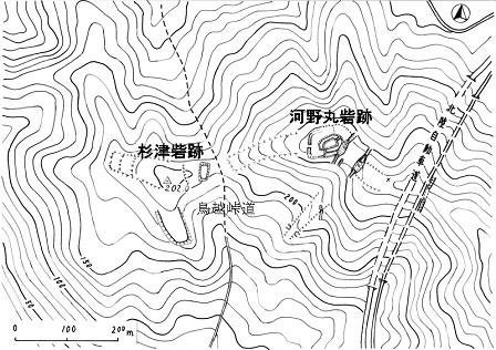 011杉津・河野丸砦跡位置図