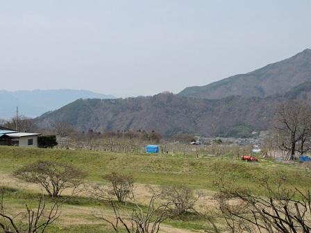 034真田町より砥石山城跡を望む2016年4月