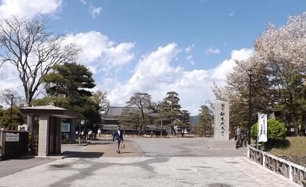 13の2松本城跡南側入り口2016年4月