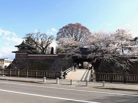 29高島城跡株木橋と隅櫓跡2016年4月