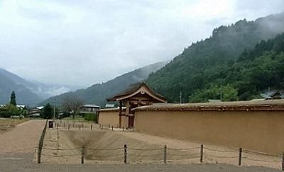 江馬館跡大手門と堀