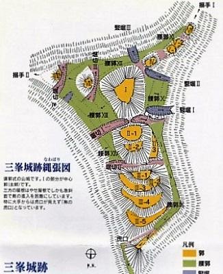 6三峰城縄張図