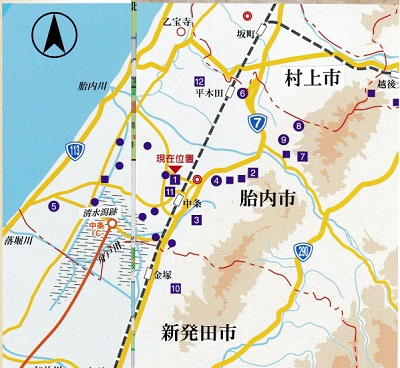 江上館跡周辺位置図
