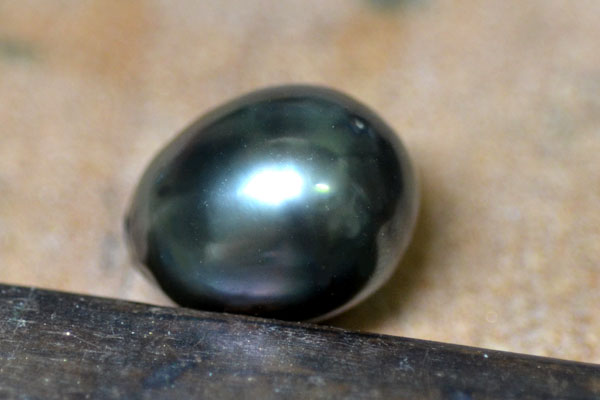 南洋黒真珠タヒチバロック雫涙ダイアモンドペンダントネックレス加工1