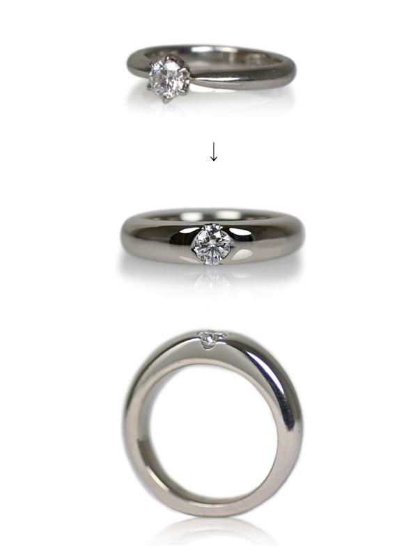 婚約指輪エンゲージリングダイアモンドリング指輪作り変えリメイクリフォーム作り直し加工