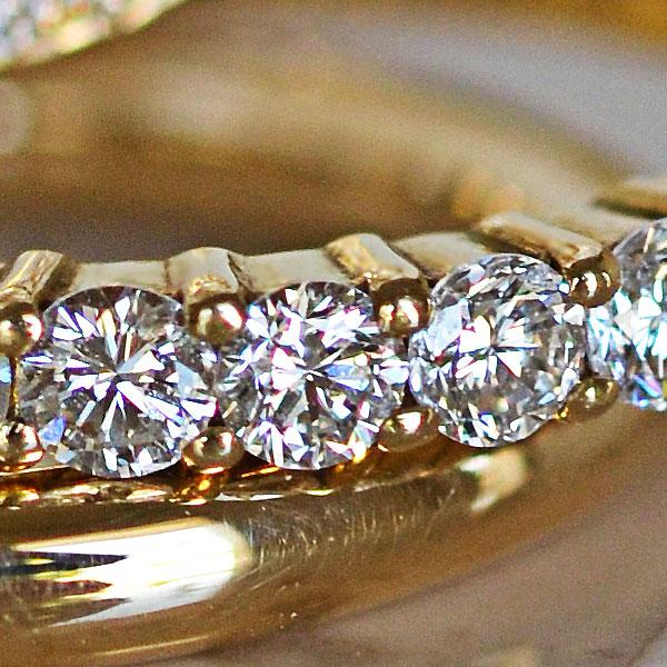 K18YGイエローゴールドダイアモンドリング指輪