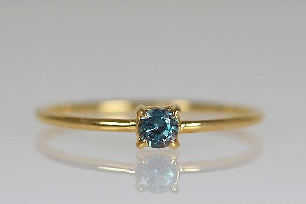 K18YG製イエローゴールドアレキサンドライトリング指輪
