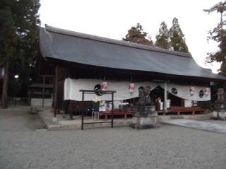 豊満神社拝殿