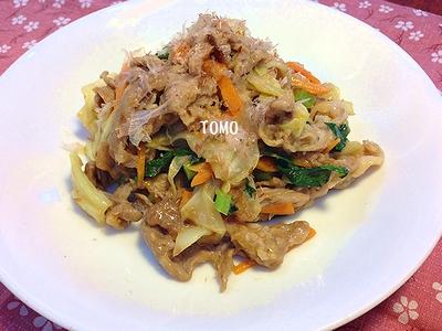 鰹節で減塩♪豚肉とキャベツの炒め物