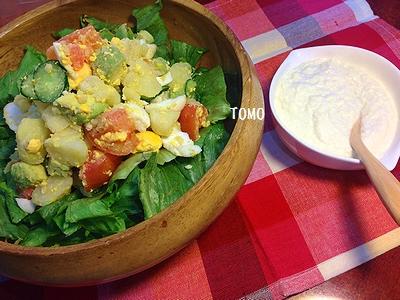 豆腐ソースのサラダ