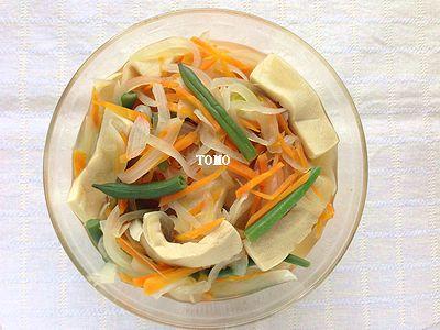 作り置きにも♪高野豆腐と野菜の含め煮