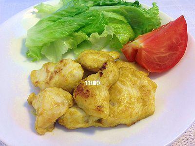 鶏胸肉の味噌カレーマヨ炒め