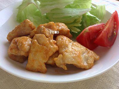 鶏胸肉のオーロラ炒め