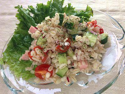 タイ風押し麦サラダ