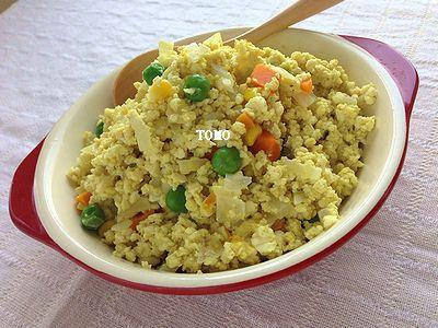 作り置きにも♪お豆腐と卵のカレーそぼろ