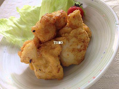 焼き肉のタレ de 鶏胸肉のから揚げ