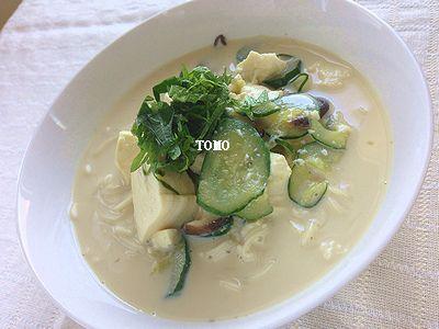 宮崎産乾しいたけ de 豆乳のぶっかけ素麺