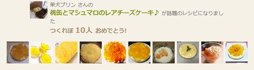 モモ缶とマシュマロのレアチーズケーキつくれぽ10