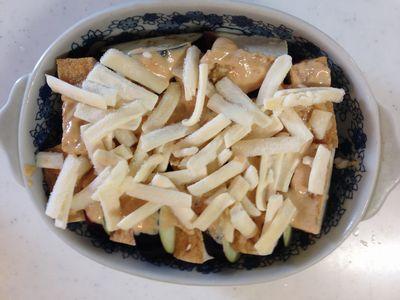 簡単おつまみ♪なすと厚揚げの味噌マヨチーズ焼き1
