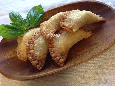 おからと餃子の皮 de サモサ