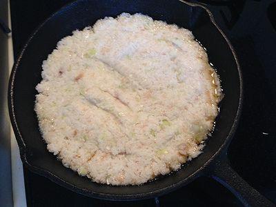 スキレットdeレンコン餅