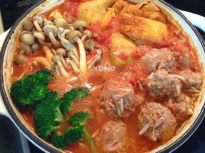 切干大根の和風トマト鍋
