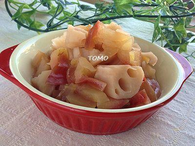 りんごとレンコンの炊き合わせ