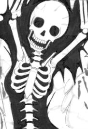 骨が透ける絵