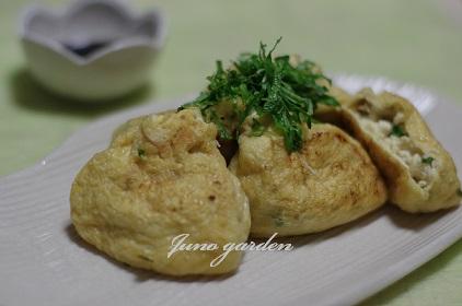豆腐巾着の生姜醤油0506