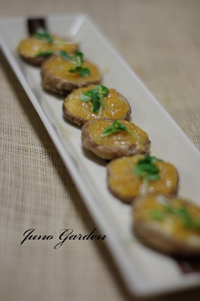 椎茸のゆず味噌160601