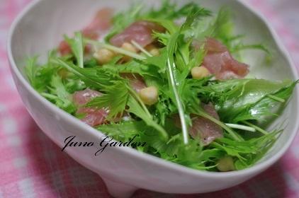 水菜サラダ161108