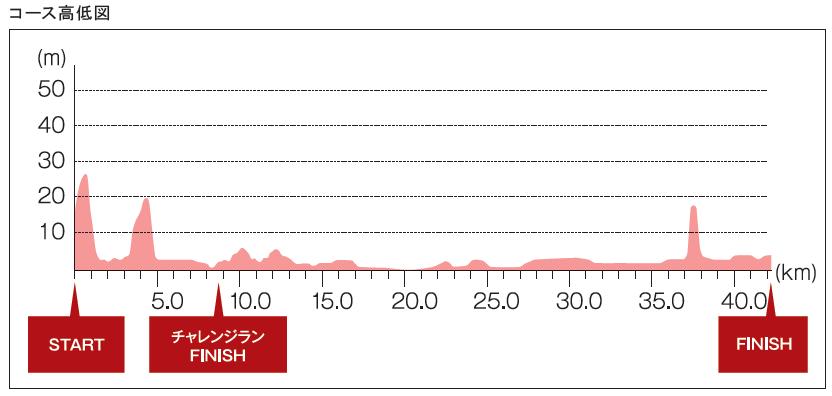 大阪マラソン2016高低図