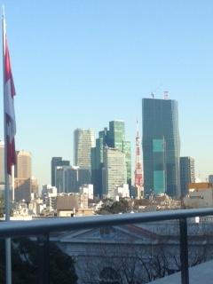カナダ大使館越しの東京タワー