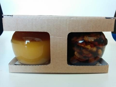 スロヴェニア産オレンジクリームハチミツとクルミのはちみつ漬け