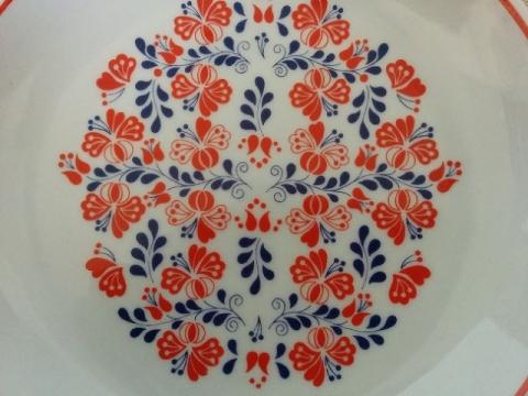 ハンガリーの有名陶器ホロハーザの飾り皿2