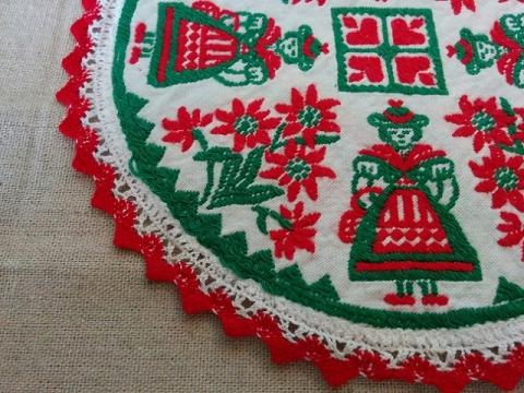 ハンガリー製 民族衣装の刺繍のドイリー2