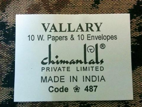 インド製チマンラール社のレターセット4