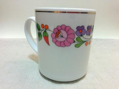 ハンガリー製カロチャ刺繍柄のマグカップ2
