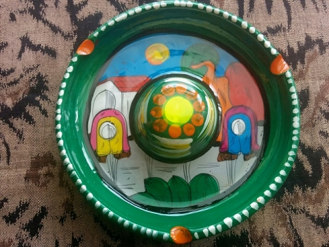 メキシコ製ソンブレロ型灰皿1
