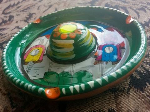 メキシコ製ソンブレロ型灰皿2